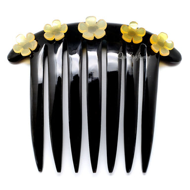 Horn Hair Comb #10791 - HORN.JEWELRY