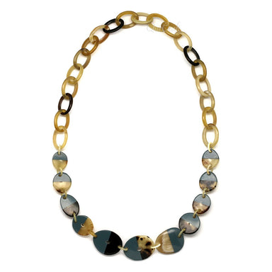 Horn & Lacquer Chain Necklace - Q4685