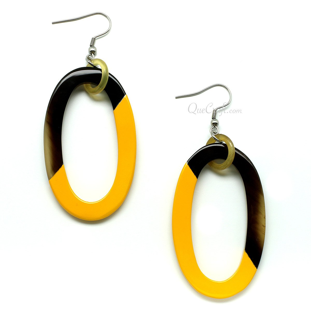 Horn & Lacquer Earrings #6267 - HORN.JEWELRY