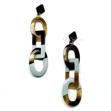 Horn & Lacquer Earrings - Q11253