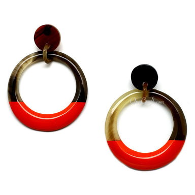 Horn & Lacquer Earrings - Q11061