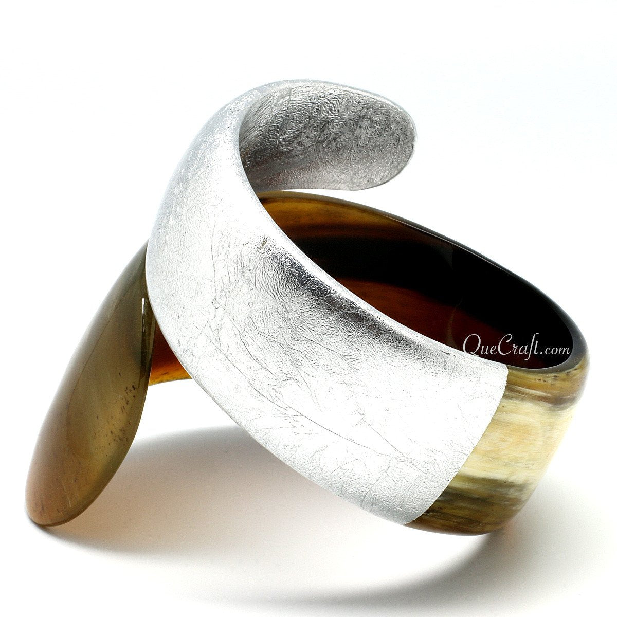 Horn & Lacquer Bangle Bracelet #7032 - HORN.JEWELRY