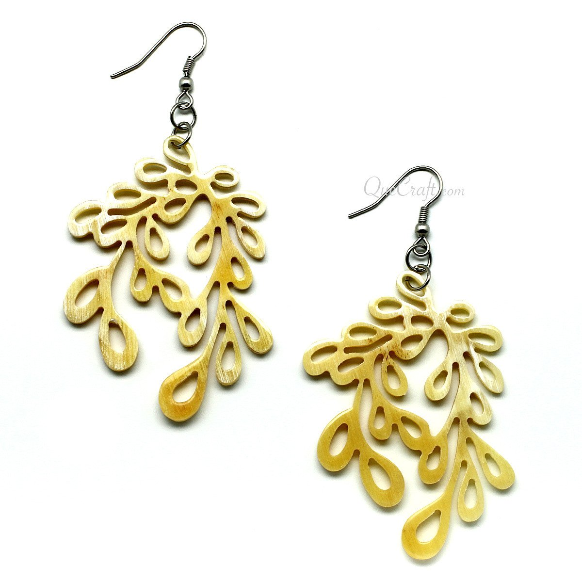 Horn Earrings #11622 - HORN.JEWELRY by QueCraft