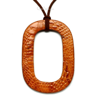 Leather Pendant #11421 - HORN.JEWELRY by QueCraft