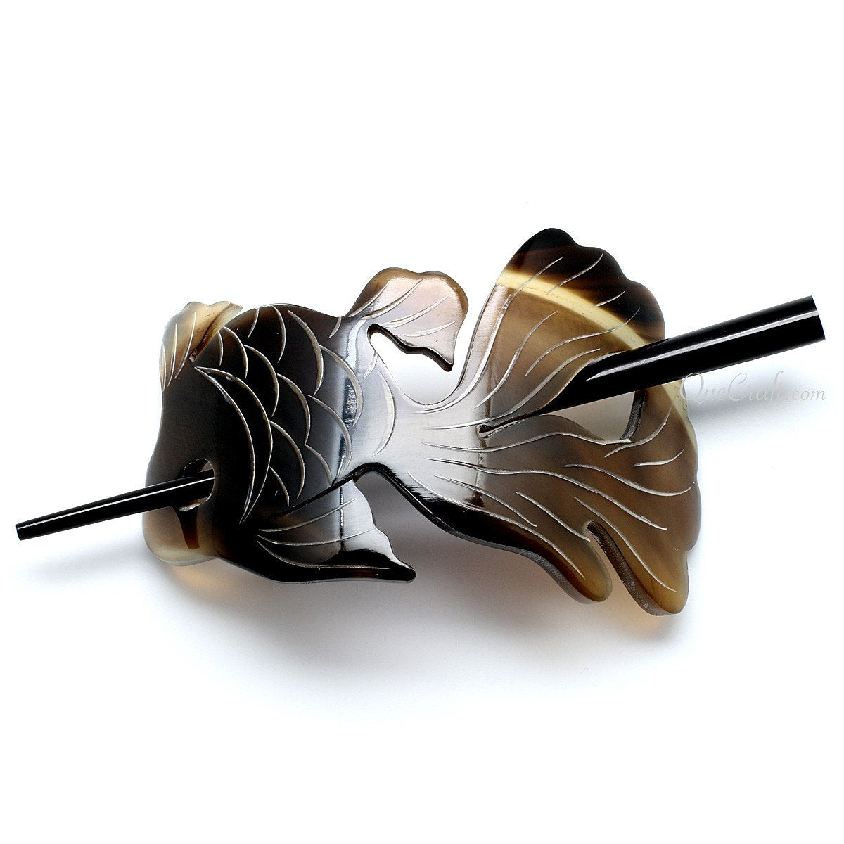 Horn Hair Barrette #10940 - HORN.JEWELRY by QueCraft