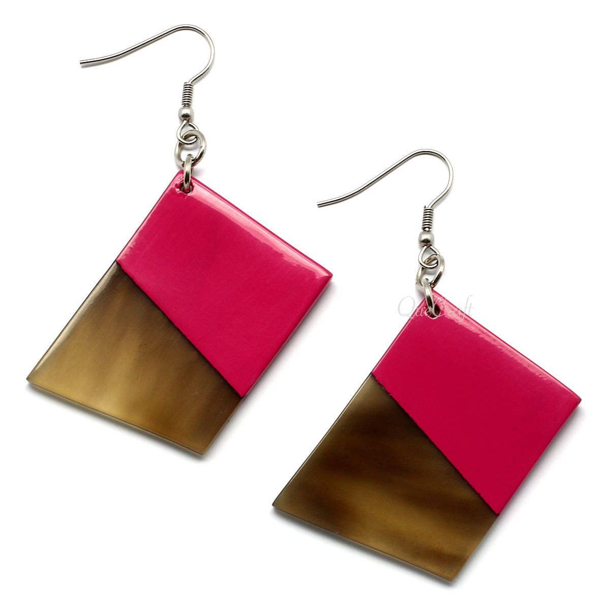 Horn & Lacquer Earrings #9742 - HORN.JEWELRY