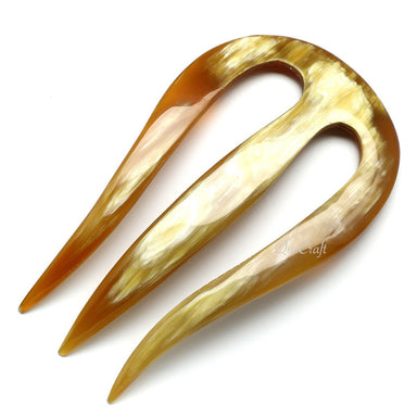 Horn Hair Pin #10579 - HORN.JEWELRY