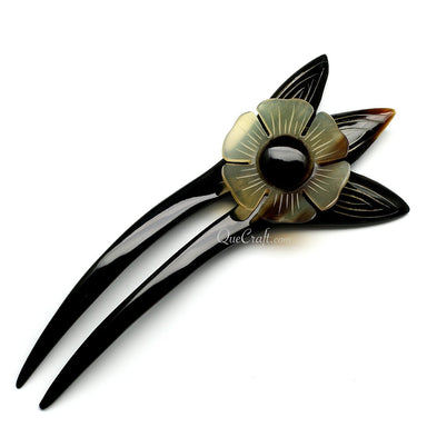 Horn Hair Pin #10531 - HORN.JEWELRY