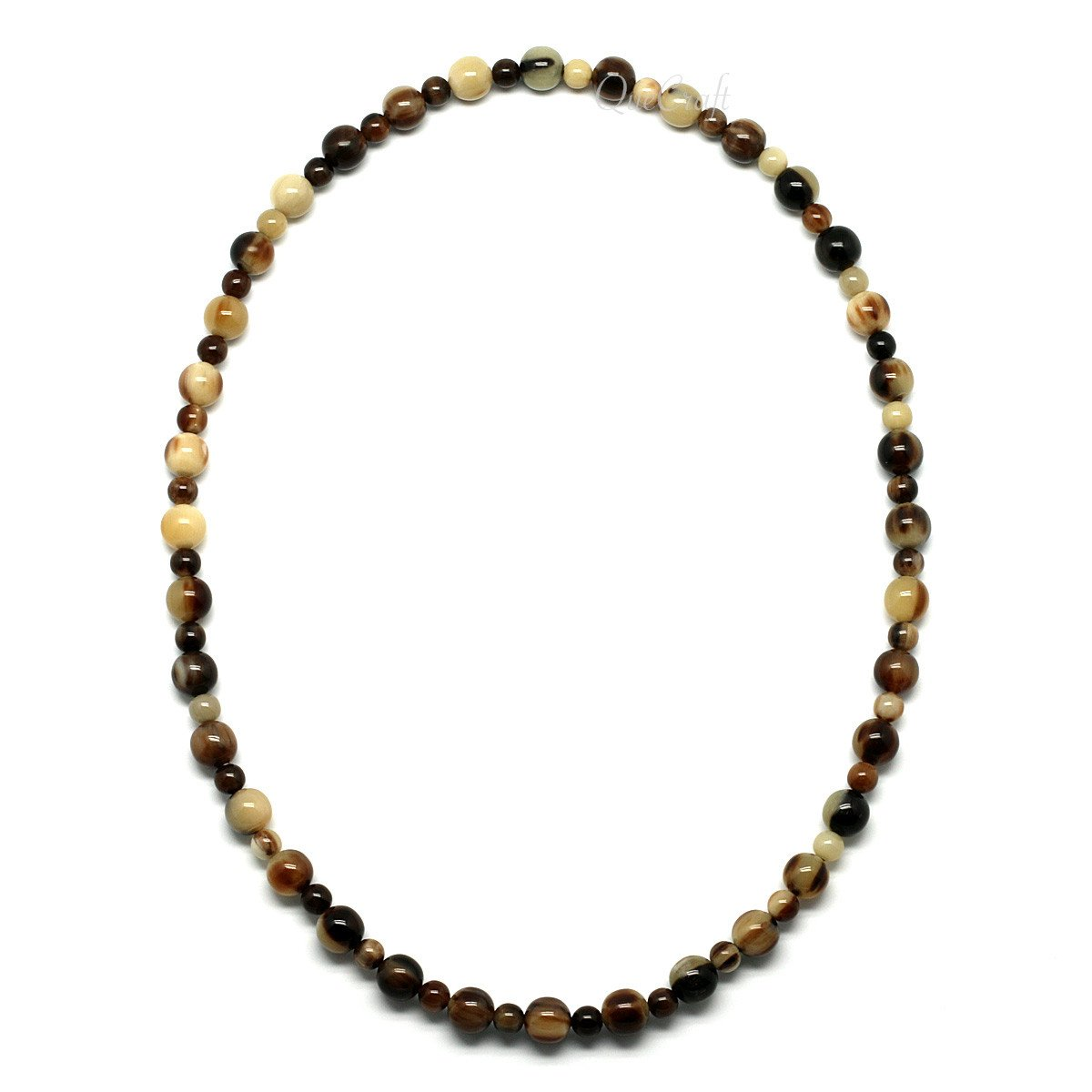 Horn Beaded Necklace #9760 - HORN.JEWELRY