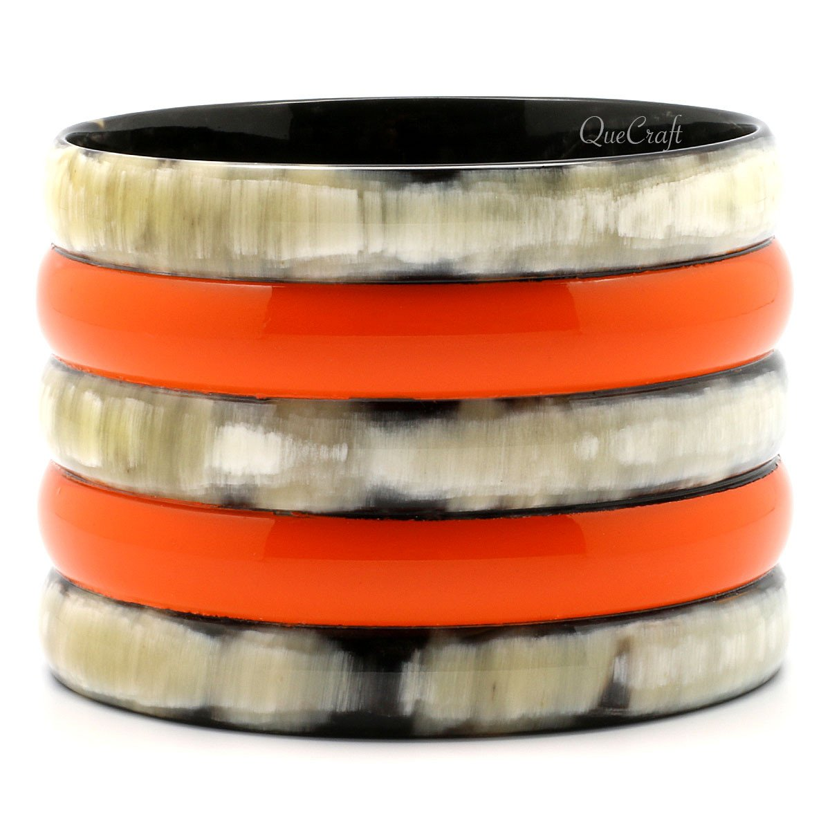 Horn & Lacquer Bangle Bracelet #7148 - HORN.JEWELRY