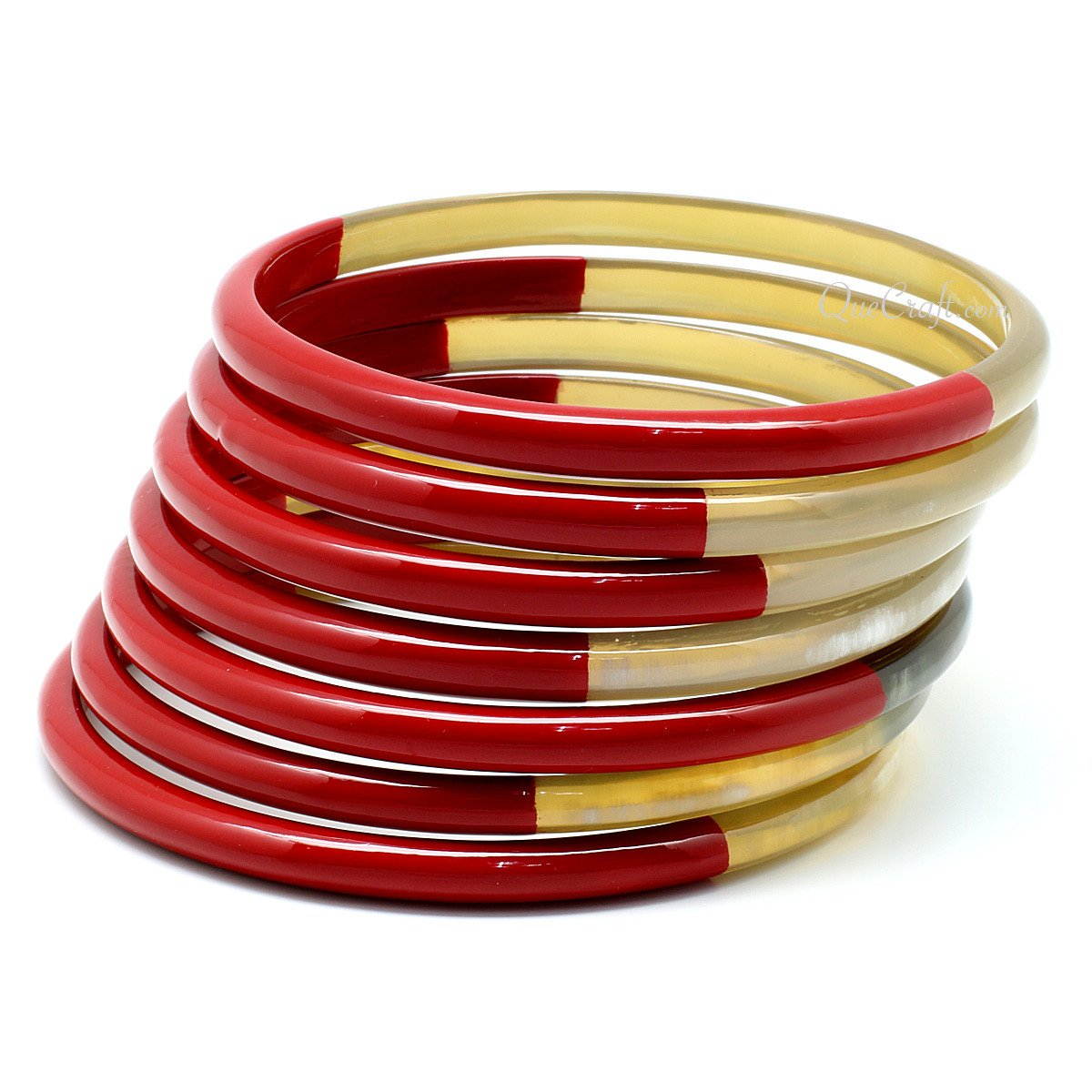 Horn & Lacquer Bangle Bracelets #11418 - HORN.JEWELRY