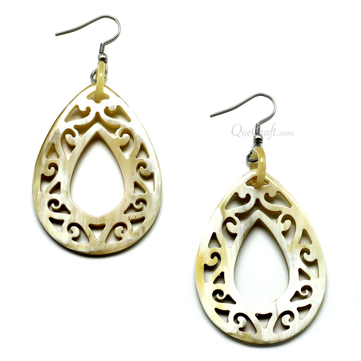 Horn Earrings #11254 - HORN.JEWELRY by QueCraft