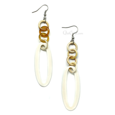 Bone & Horn Earrings #11543 - HORN.JEWELRY
