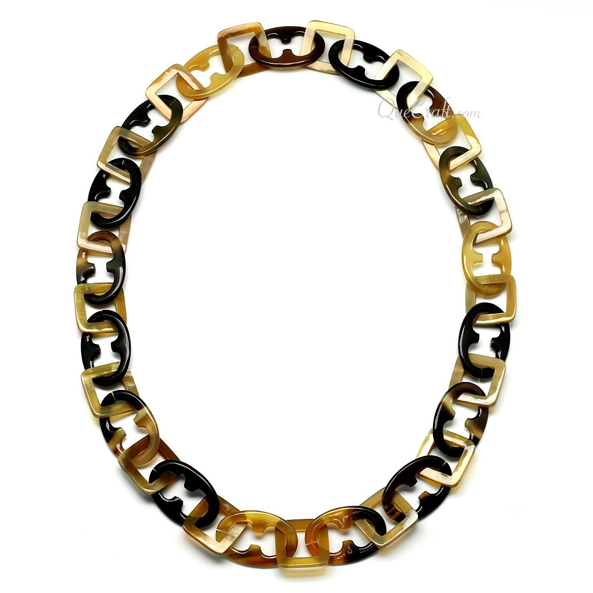 Horn Chain Necklace #11143 - HORN.JEWELRY by QueCraft