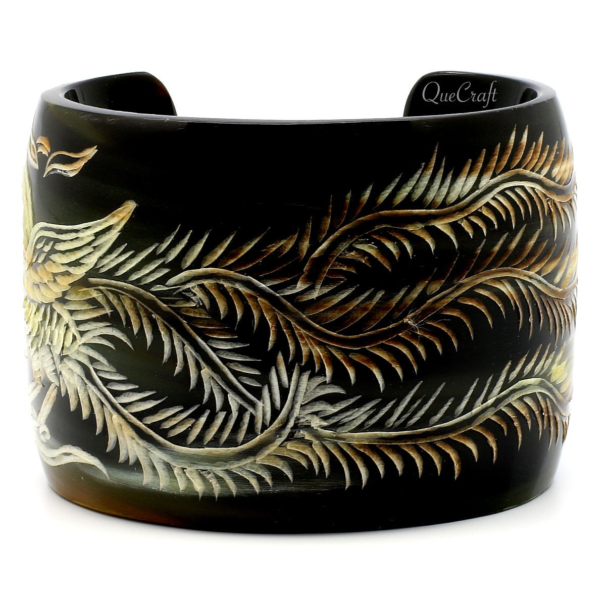 Horn Cuff Bracelet #4111 - HORN.JEWELRY by QueCraft