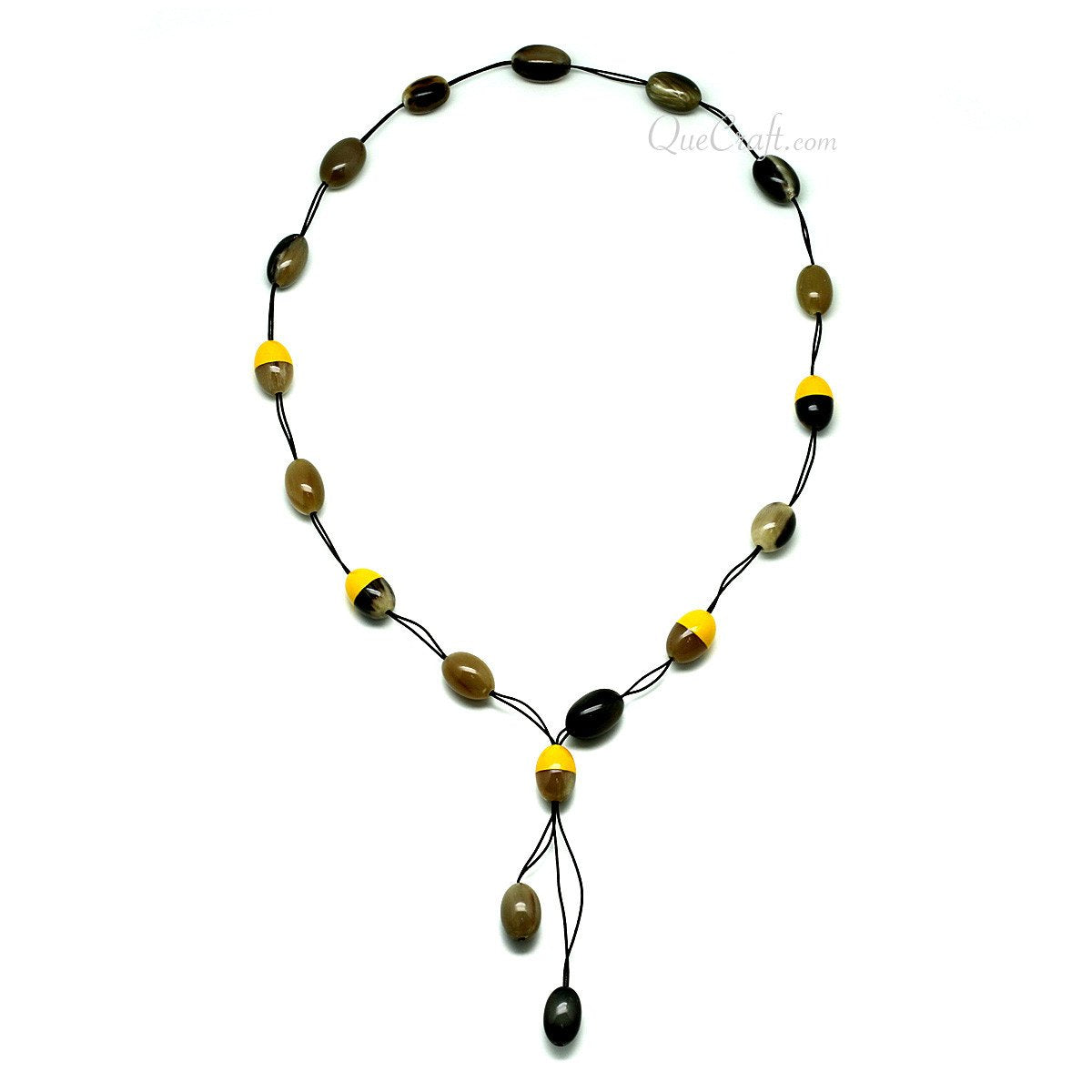 Horn & Lacquer Beaded Necklace #4057 - HORN.JEWELRY