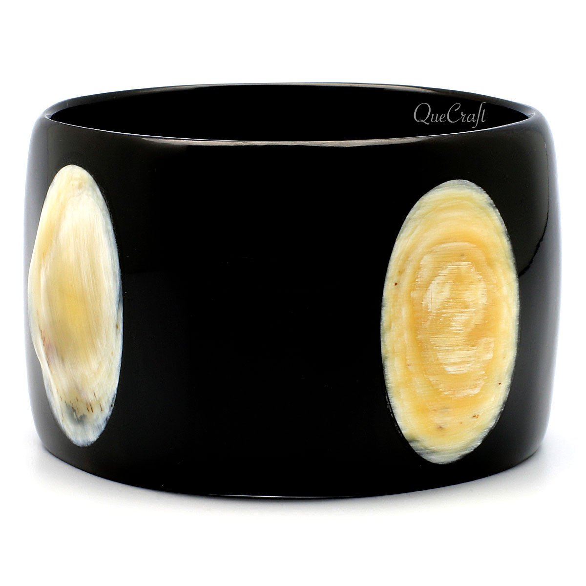 Horn Bangle Bracelet #9098 - HORN.JEWELRY by QueCraft