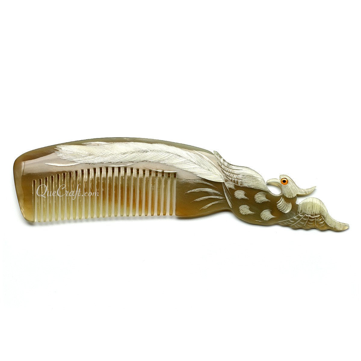 Horn Hair Comb #10679 - HORN.JEWELRY