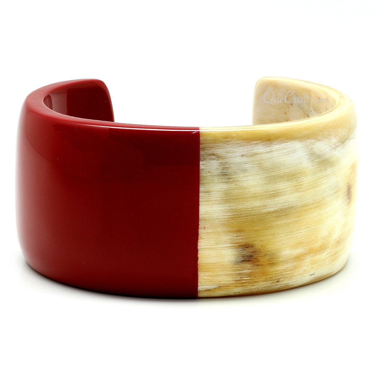 Horn & Lacquer Cuff Bracelet #6749 - HORN.JEWELRY