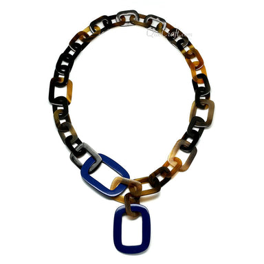 Horn & Lacquer Chain Necklace - Q4513