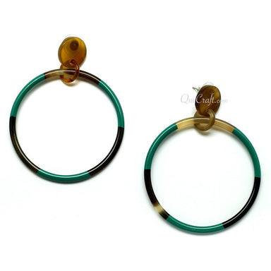 Horn & Lacquer Earrings #11396 - HORN.JEWELRY by QueCraft