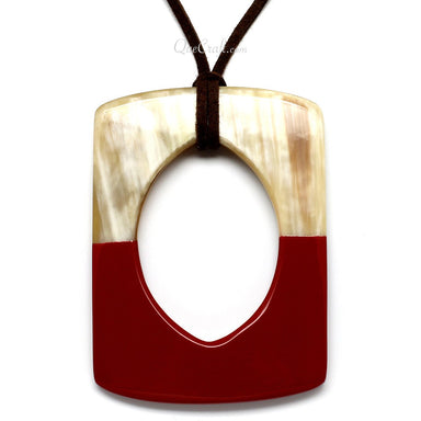 Horn & Lacquer Pendant #11180 - HORN.JEWELRY