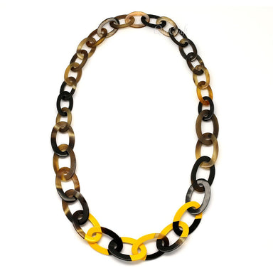Horn & Lacquer Chain Necklace #4494 - HORN.JEWELRY