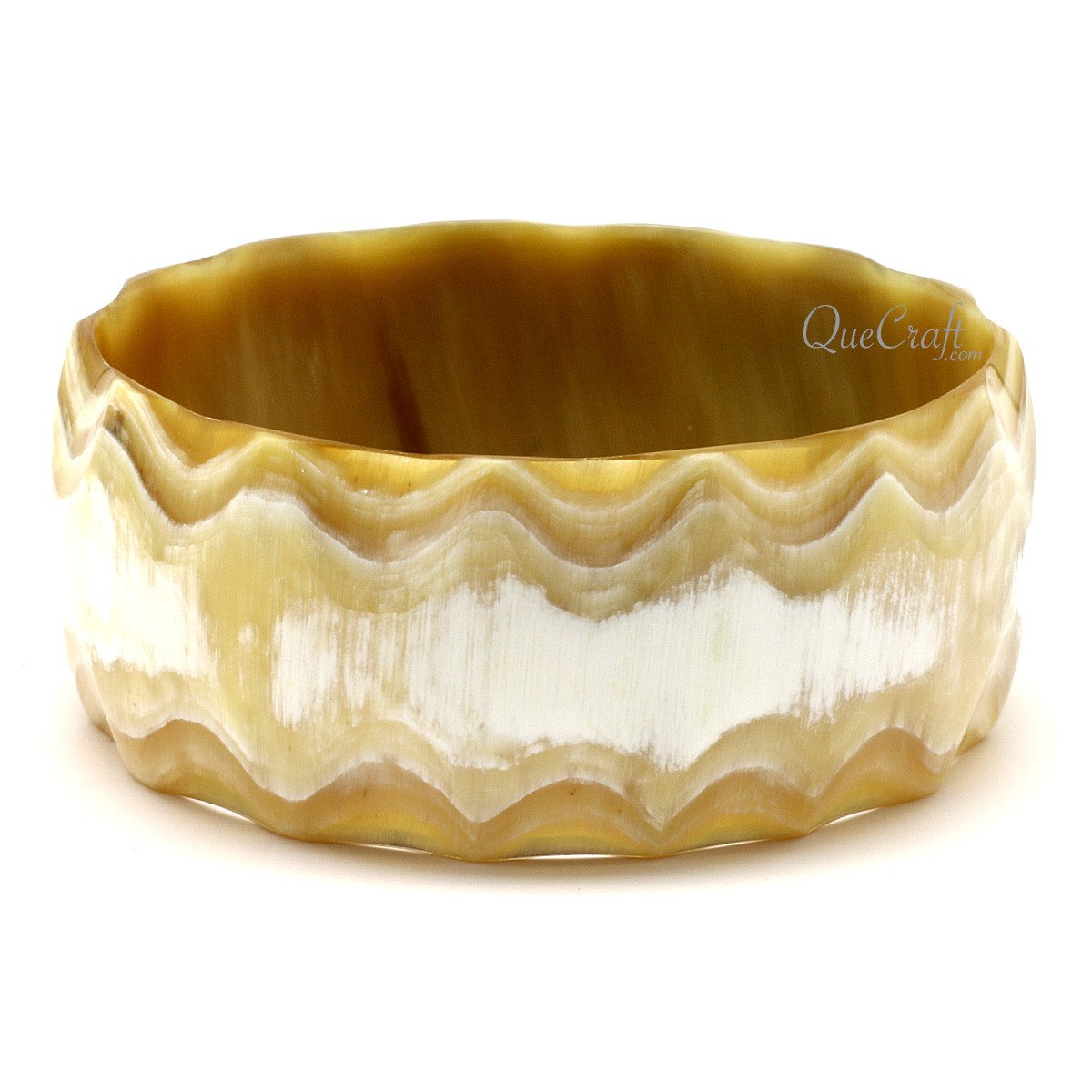 Horn Bangle Bracelet #12380 - HORN.JEWELRY by QueCraft