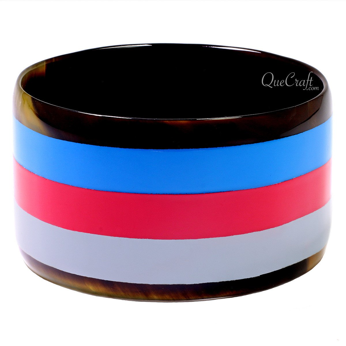 Horn & Lacquer Bangle Bracelet #12733 - HORN.JEWELRY by QueCraft