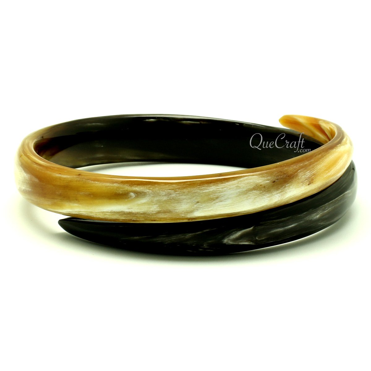 Horn Bangle Bracelet #13040 - HORN.JEWELRY by QueCraft