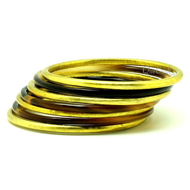 Horn & Lacquer Bangle Bracelets #13113 - HORN.JEWELRY