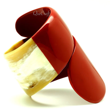 Horn & Lacquer Bangle Bracelet #13210 - HORN.JEWELRY