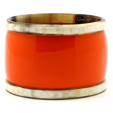 Horn & Lacquer Bangle Bracelet #7508 - HORN.JEWELRY