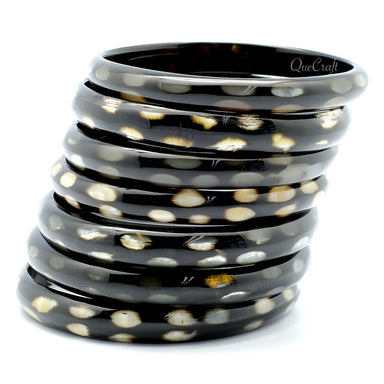Horn Bangle Bracelets #9632 - HORN.JEWELRY by QueCraft