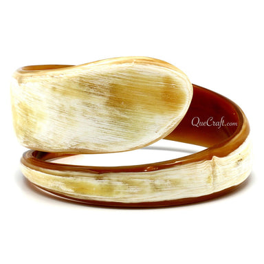 Horn Bangle Bracelet #9839 - HORN.JEWELRY by QueCraft