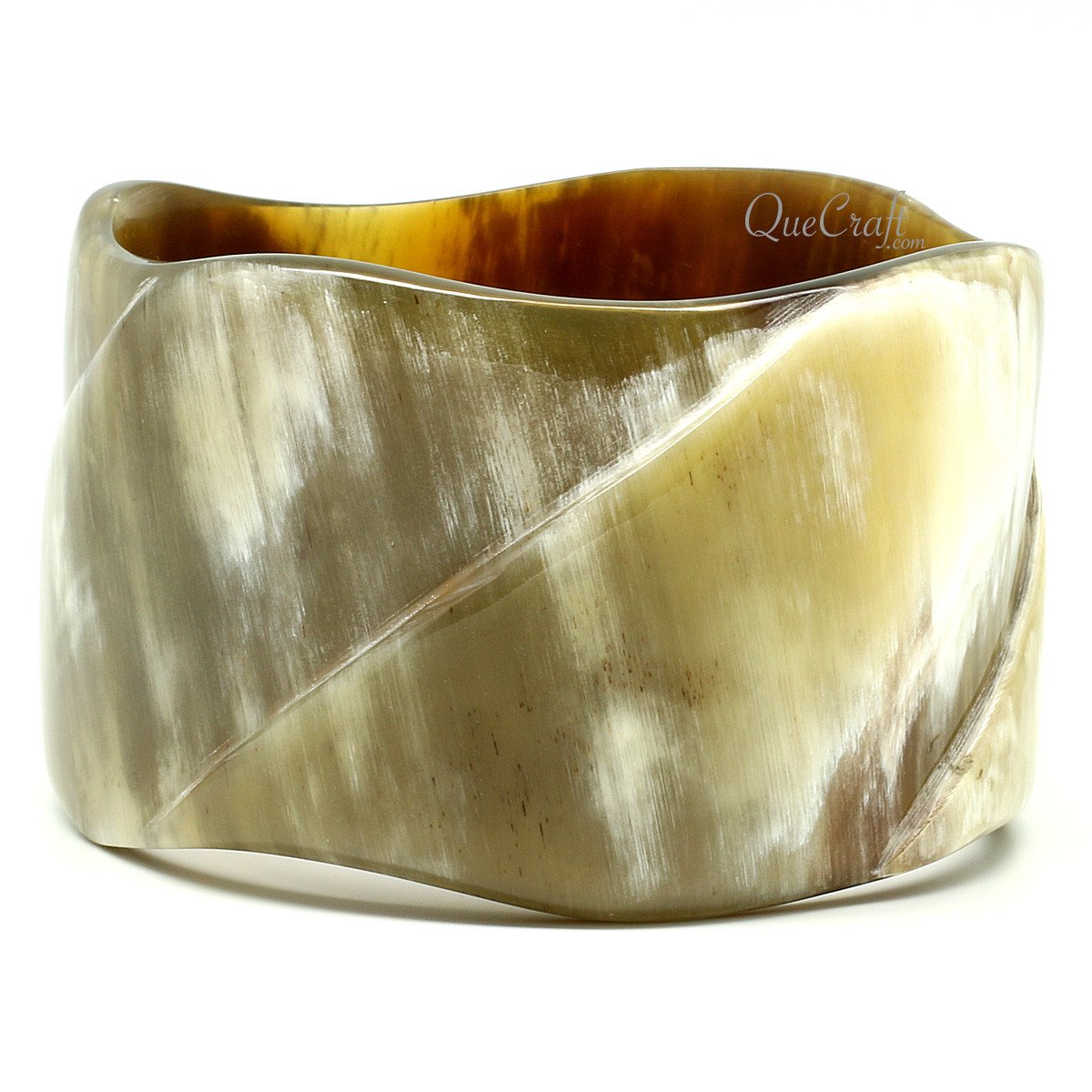 Horn Bangle Bracelet #9884 - HORN.JEWELRY by QueCraft