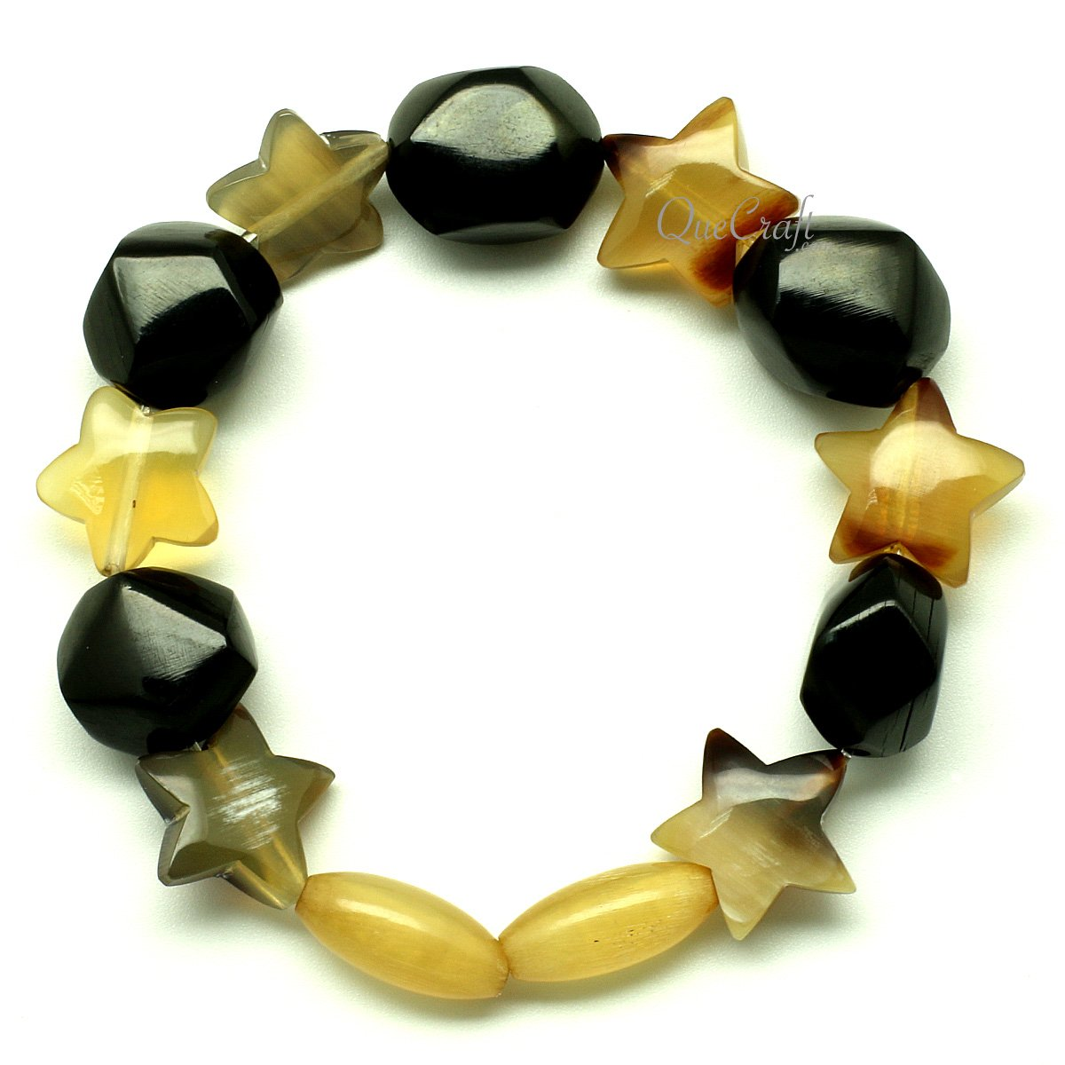 Horn Beaded Bracelet #12936 - HORN.JEWELRY by QueCraft