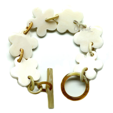 Bone & Horn Chain Bracelet #11950 - HORN.JEWELRY
