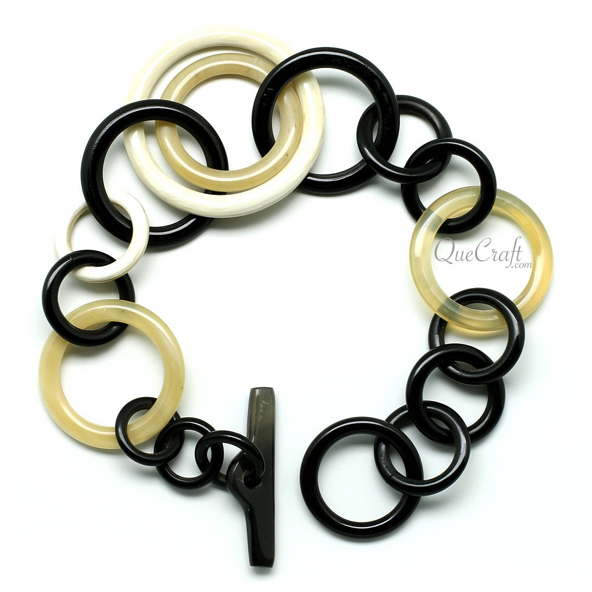 Horn Chain Bracelet #9953 - HORN.JEWELRY by QueCraft