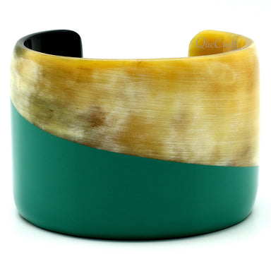 Horn & Lacquer Cuff Bracelet #11713 - HORN.JEWELRY