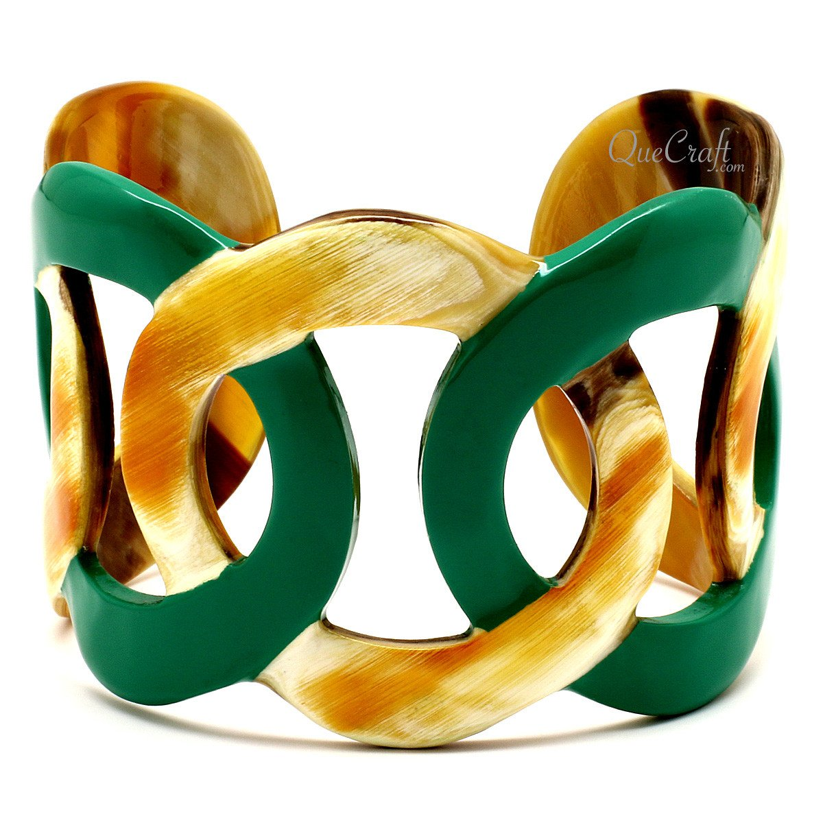 Horn & Lacquer Cuff Bracelet #12409 - HORN.JEWELRY