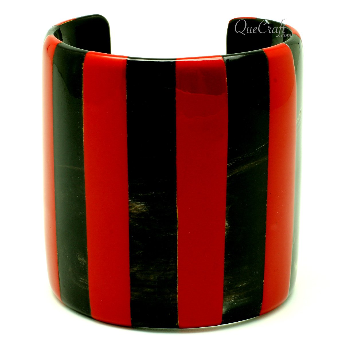 Horn & Lacquer Cuff Bracelet #13209 - HORN.JEWELRY by QueCraft