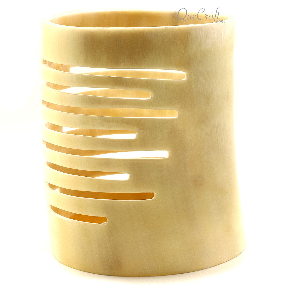 Horn Candle Holder #12280 - HORN.JEWELRY by QueCraft