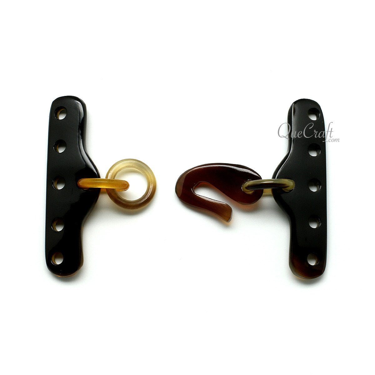 Horn Toggle Clasp #11862 - HORN.JEWELRY by QueCraft
