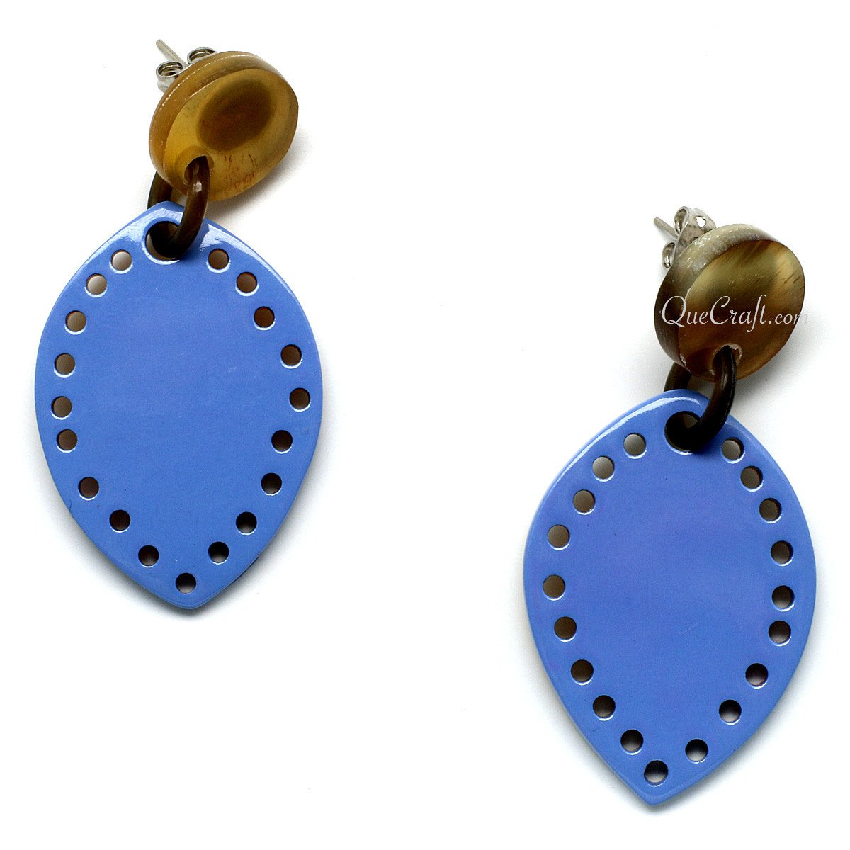 Horn & Lacquer Earrings #11113 - HORN.JEWELRY