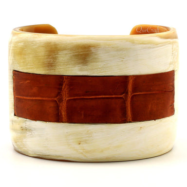 Horn & Leather Cuff Bracelet #6687 - HORN.JEWELRY