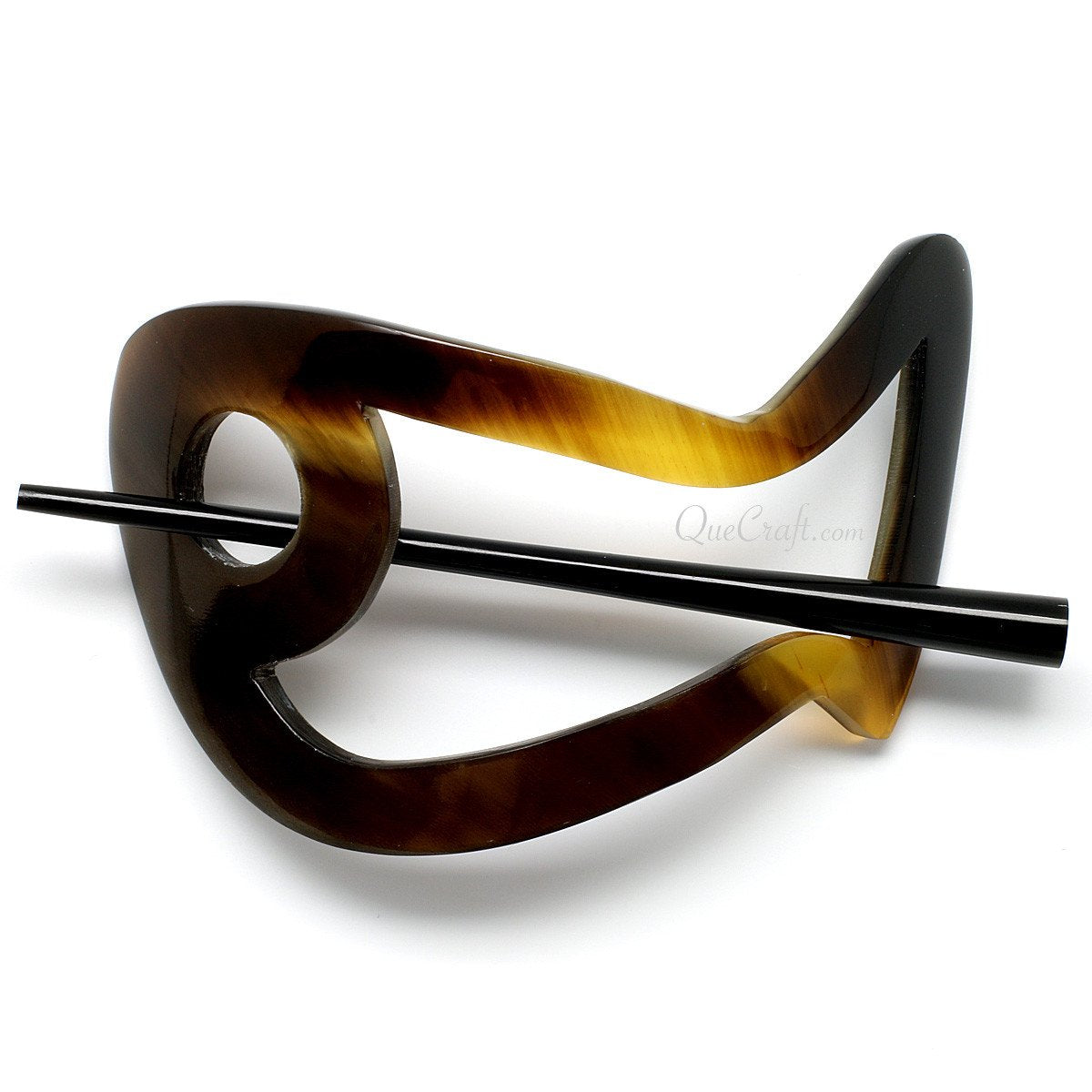Horn Hair Barrette #10942 - HORN.JEWELRY by QueCraft