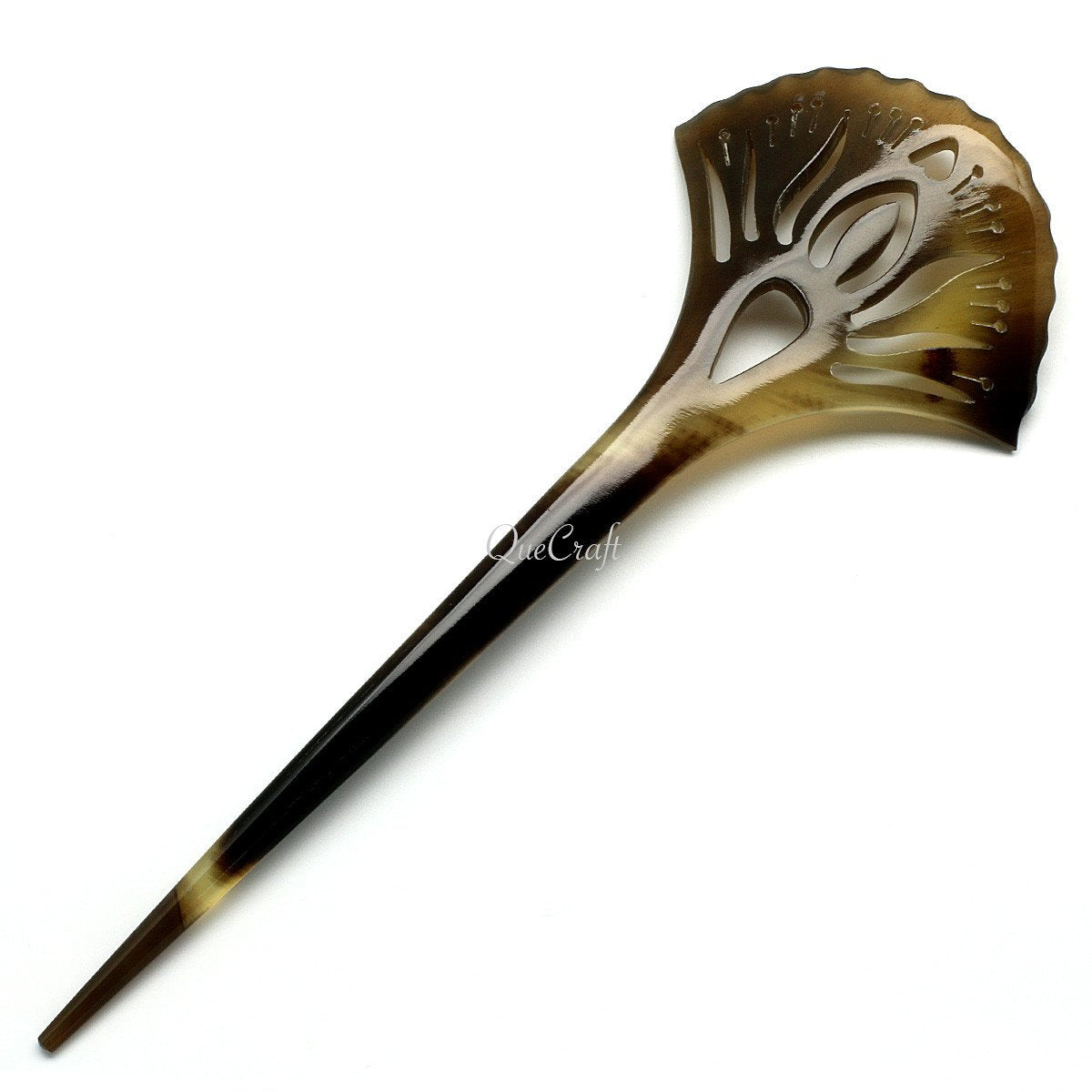 Horn Hair Stick #10501 - HORN.JEWELRY by QueCraft