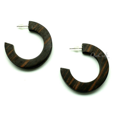 Ebony Earrings #12958 - HORN.JEWELRY