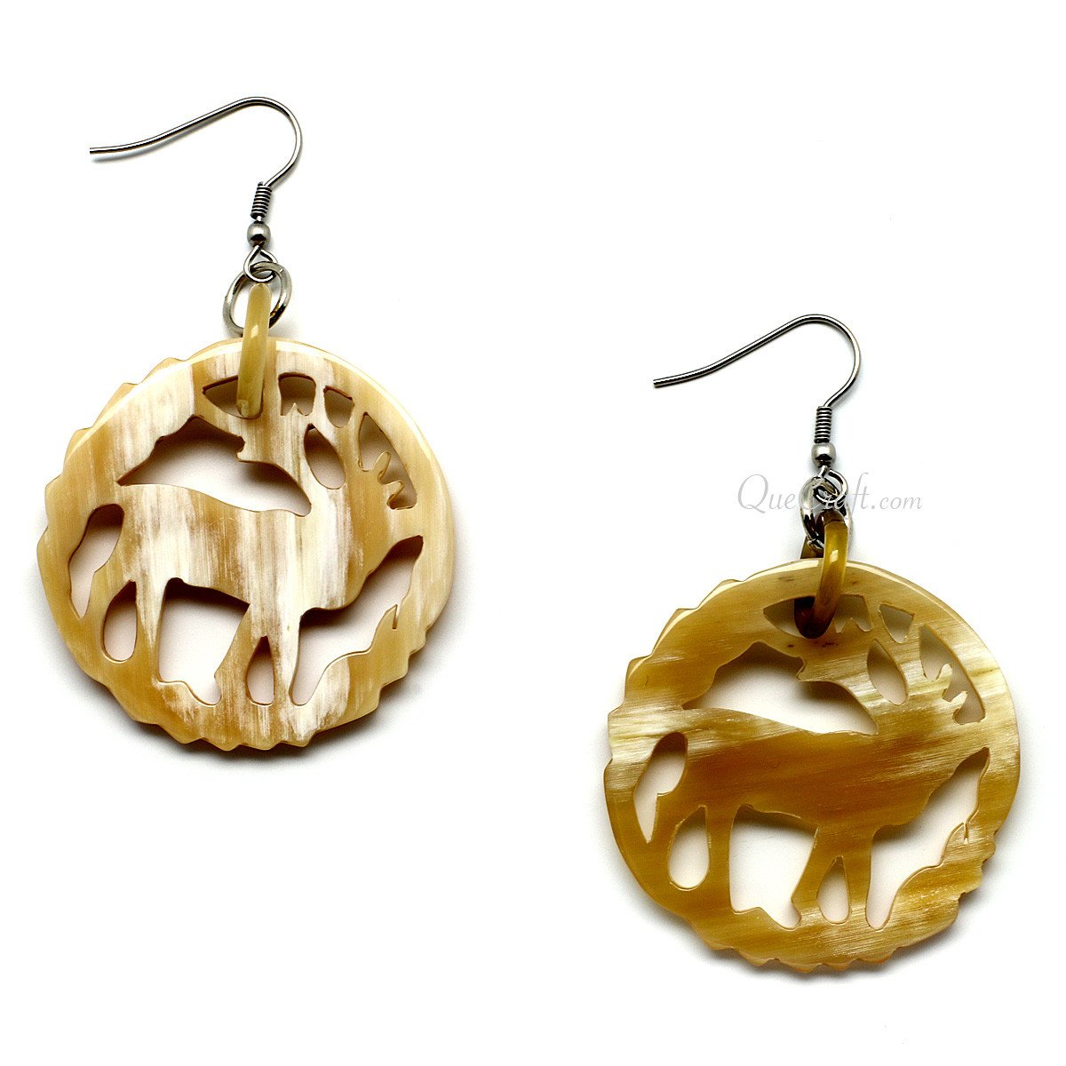 Horn Earrings #10053 - HORN.JEWELRY by QueCraft